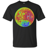 Moon Color Topography Space Shirt