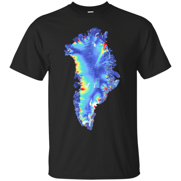 Greenland in Blue Geology Shirt