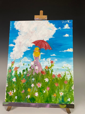 Summer - Original Student Painting On Canvas