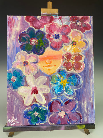 Flores - Original Student painting on canvas