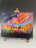 Sunset - Original Student Painting On Canvas
