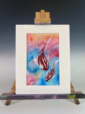 Koi Fish - Original Student Watercolor Painting