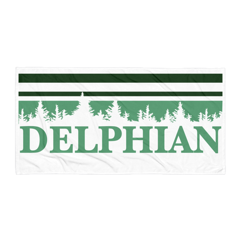 Delphian Trees Beach Towel