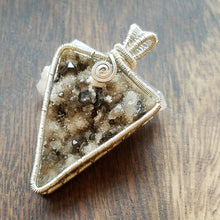 Druzy Smoky Quartz Necklace ~ Sterling Silver