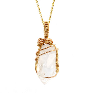 Clear Quartz ~ 14k Yellow & Rose Gold Fill