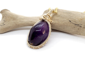 Royal Amethyst ~ Sterling Silver & 14k Gold Fill