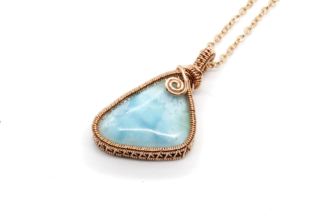 Larimar ~ Rose Gold Fill