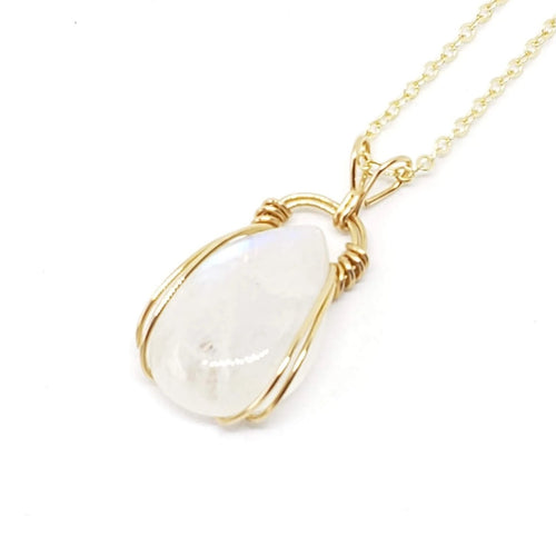 Moonstone Pendant ~ 14k Gold Fill