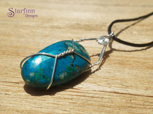 Empowering Chrysocolla Boho Necklace ~ Sterling Silver