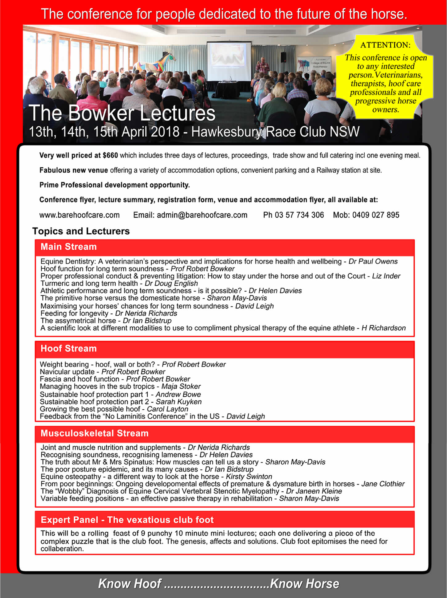 Bowker Lectures Brochure 2018