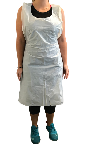Poly Disposable Aprons, 28x46
