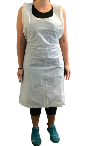 Poly Disposable Aprons, 24x42