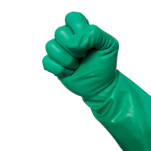 Nitrile Flock-Lined Gloves, Green