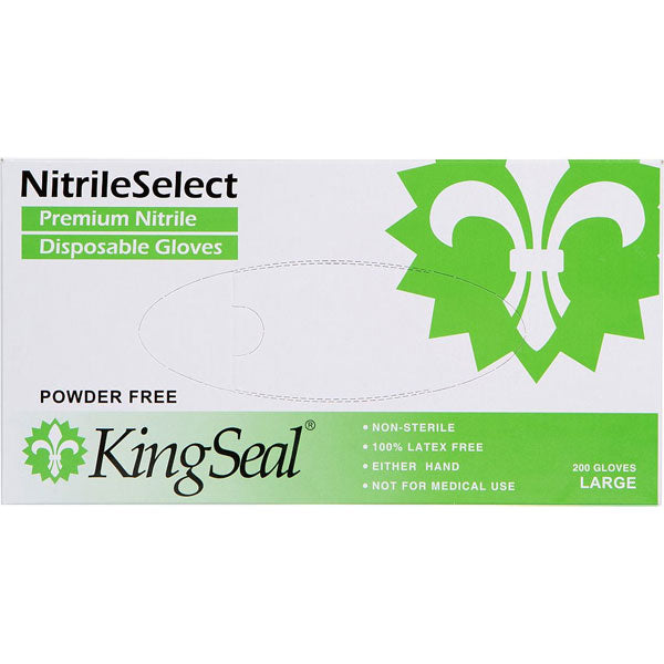 NitrileSelect® Nitrile General Purpose Gloves, White, Latex-free and Powder-free (4/200)