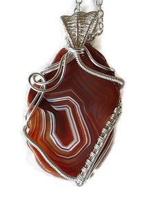 Sterling Silver Lake Superior Agate Ripples Necklace