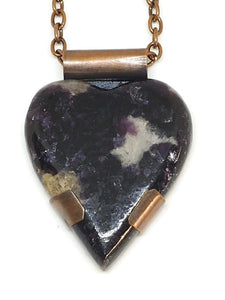 Antiqued Copper Amethyst Necklace