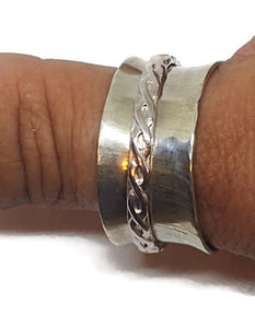 Sterling Silver Spinner Ring - Celtic Braid