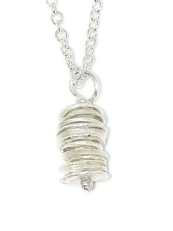Sterling Silver Water Cast Cairn Necklace