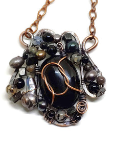 Black Onyx Mosaic Necklace - Medium