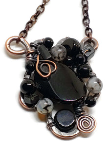 Black Onyx Mosaic Necklace - Small
