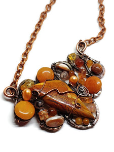 Brecciated Jasper Mosaic Necklace - Large