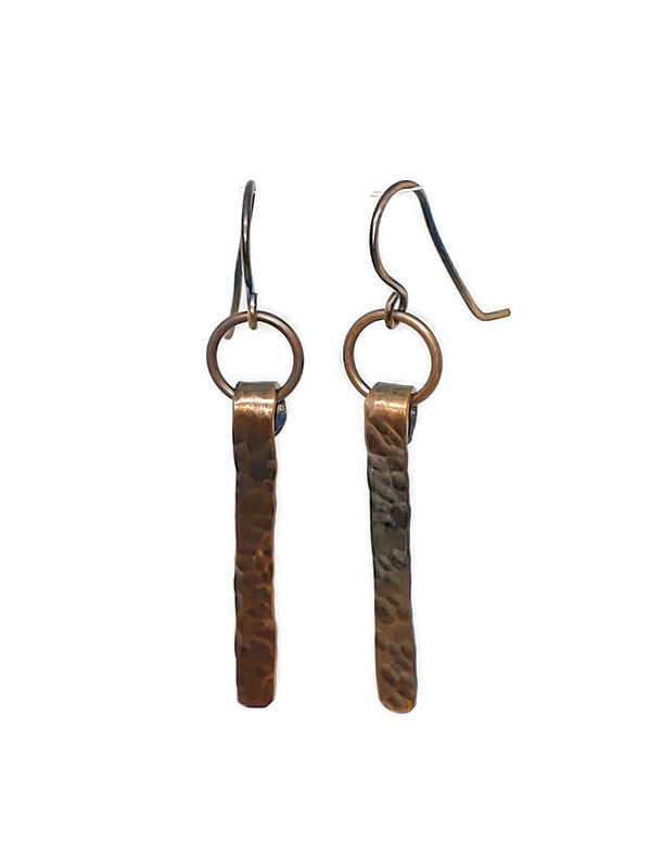 Antiqued Copper Dagger Earrings