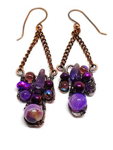 Crazy Lace Amethyst Mosaic Earrings