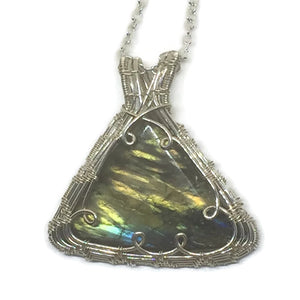 Sterling Silver Labradorite Necklace - One of a Kind