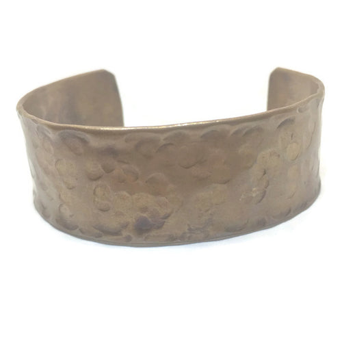 Antiqued Copper Hammered Cuff Bracelet - Peen Shaped