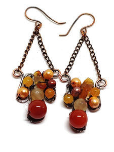 Lake Superior Agate Mosaic Earrings
