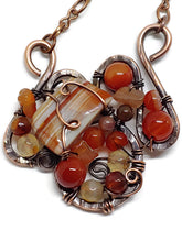 Lake Superior Agate Mosaic Necklace - Medium