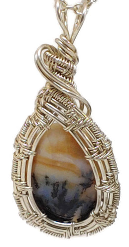 Sterling Silver Montana Picture Agate Necklace - One of a Kind