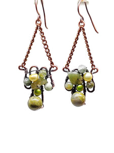 Ocean Jasper Mosaic Earrings