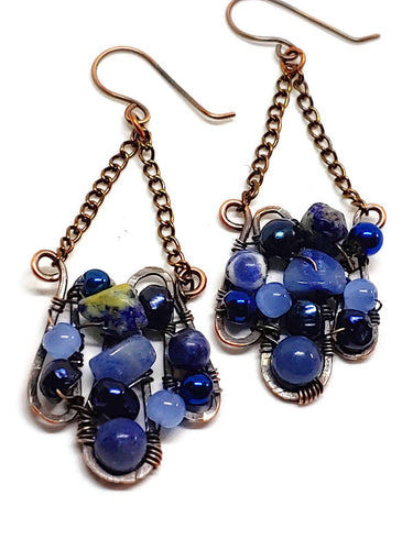 Sodalite Mosaic Earrings