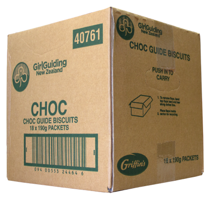 Guide choc carton - 18 packs