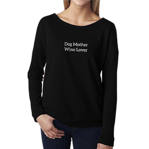 DOG MOTHER WINE LOVER - Women's Terry Scoopneck