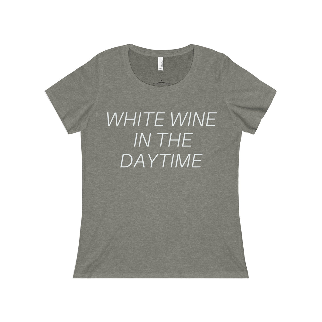 WHITE WINE IN THE DAYTIME - Women's Relaxed Jersey Scoop Neck Tee