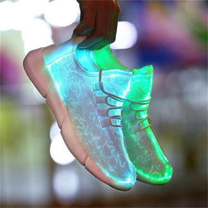 Fiber-Optic White Led Shoes by Sneakers