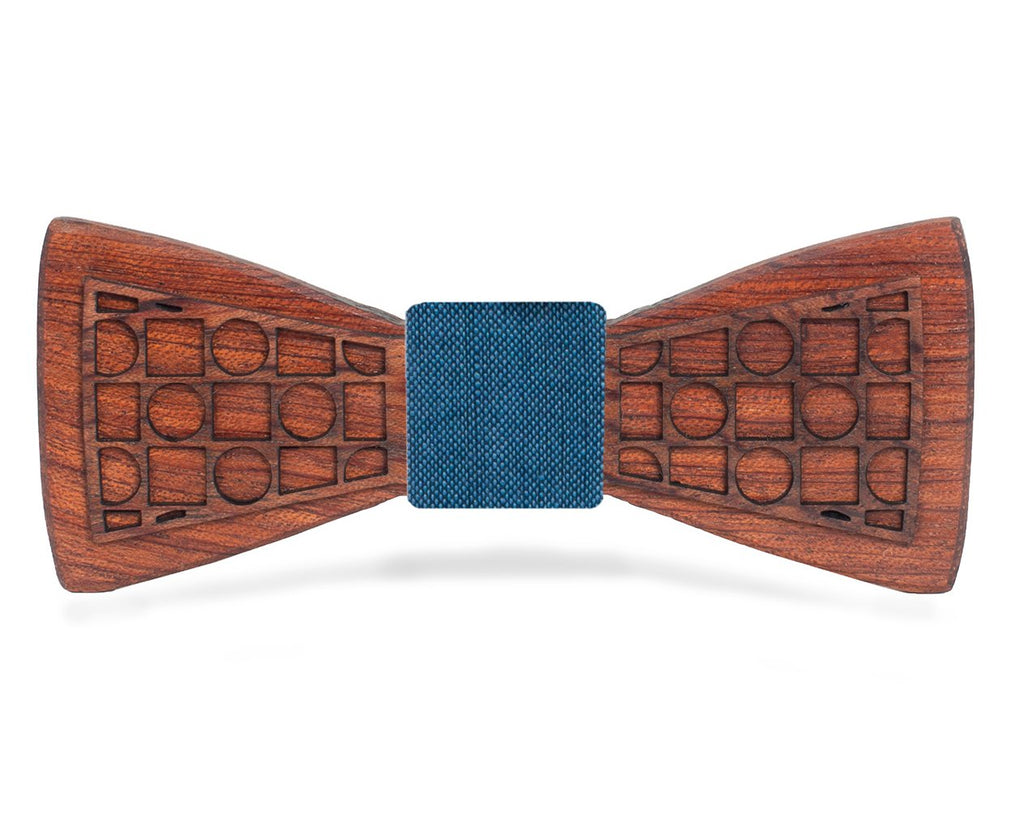 Bloodwood Wooden Bow Tie