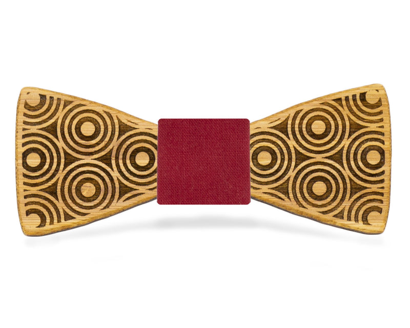 Circle Flair Wooden Bow Tie Classic