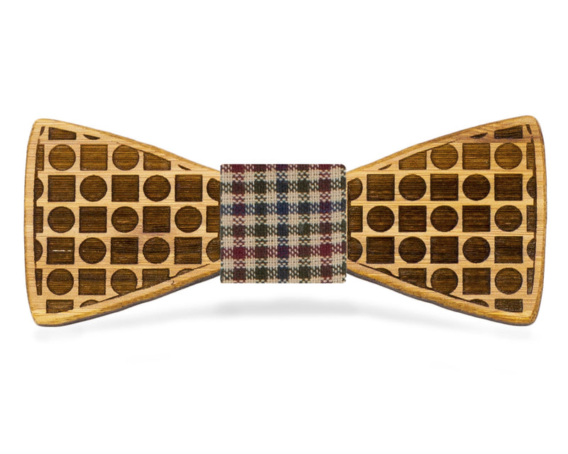 Circles and Squares: Bamboo Bow Tie, rjostudio|HANDCRAFTED