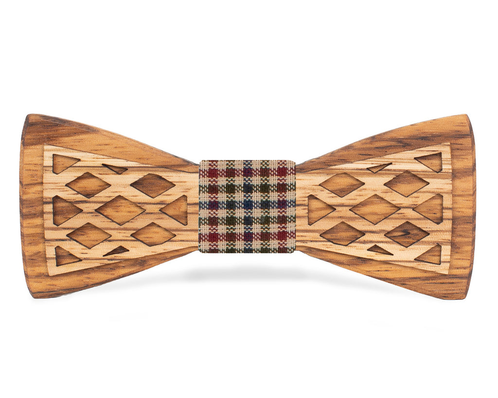 Zebrawood Wooden Bow Tie