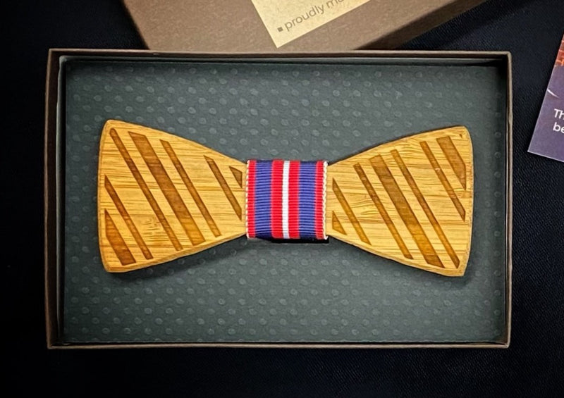 Going Fishing: Boy's Bamboo Bow Tie