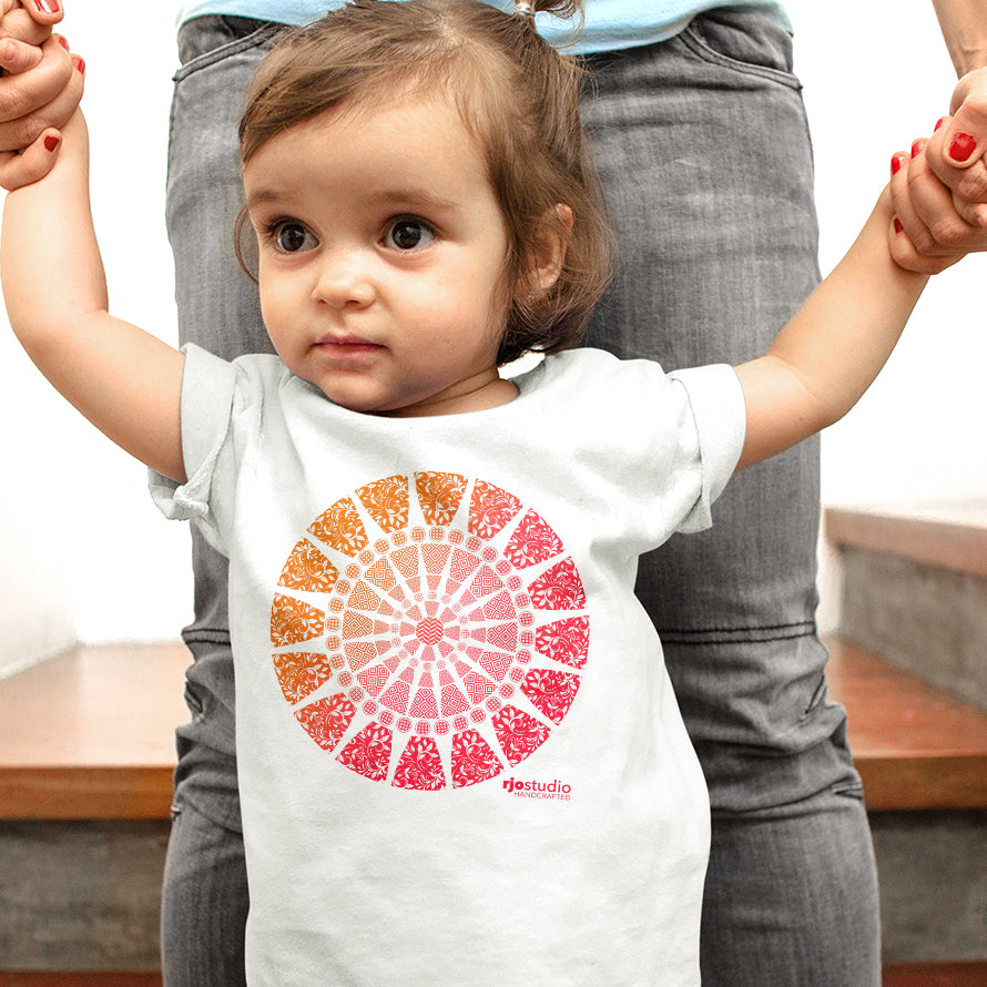 Mandala Red: Baby T-Shirt