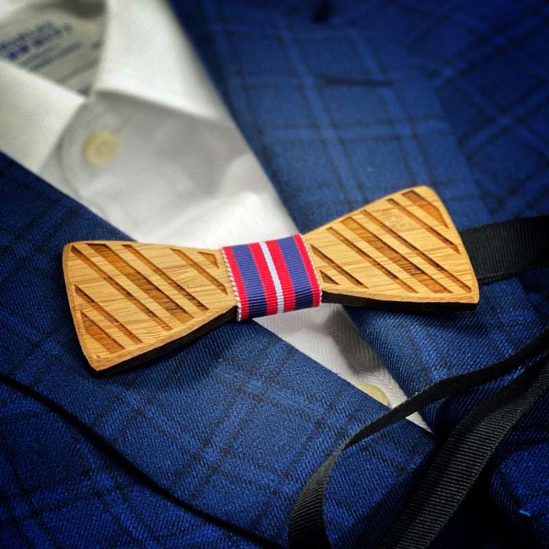 To the Moon: Boy's Bamboo Bow Tie
