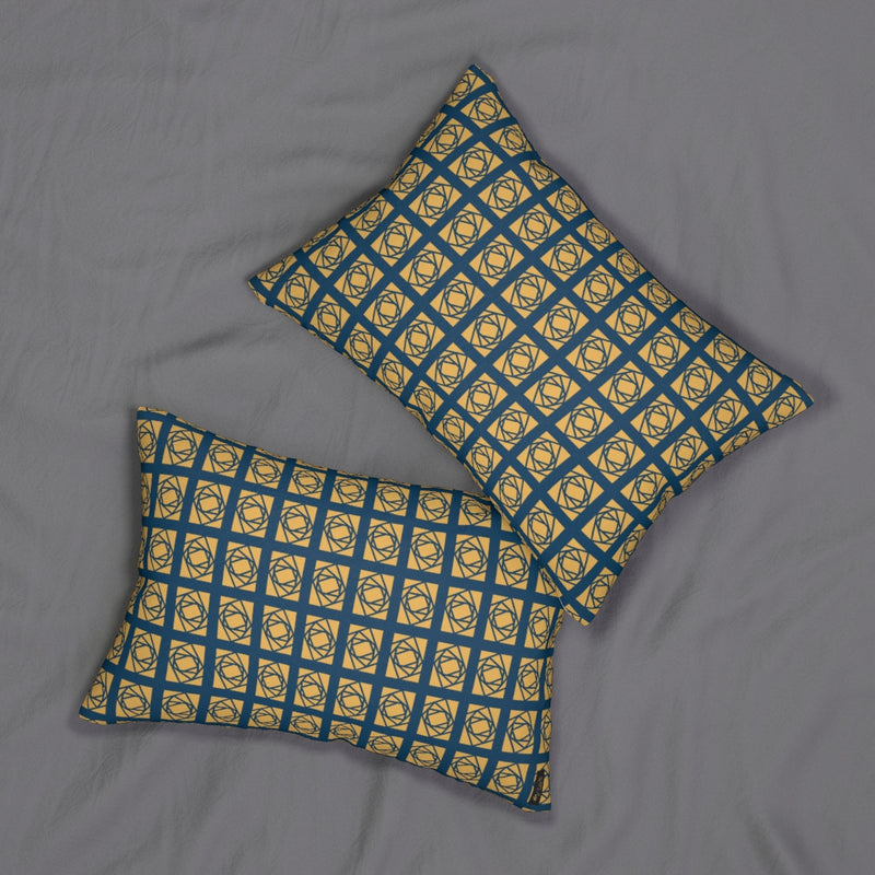 "Lantern ""Rotating Rectangles"" Lumbar Pillow"