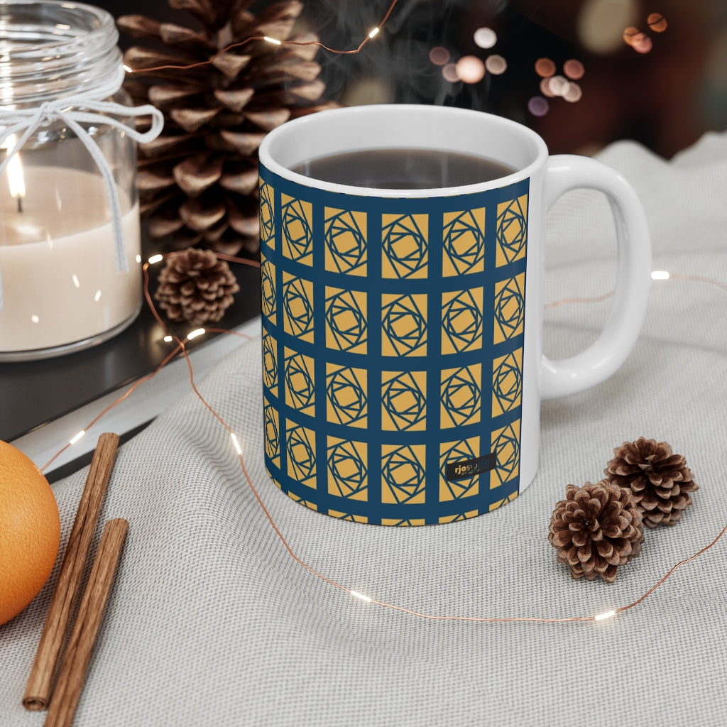 "Lantern ""Rotating Rectangles"" Mug"
