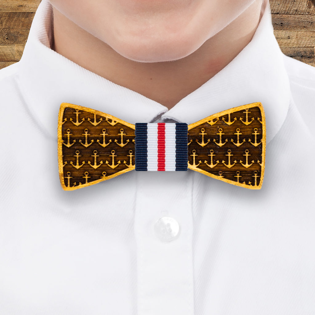 Anchors Away: Boy's Bamboo Bow Tie
