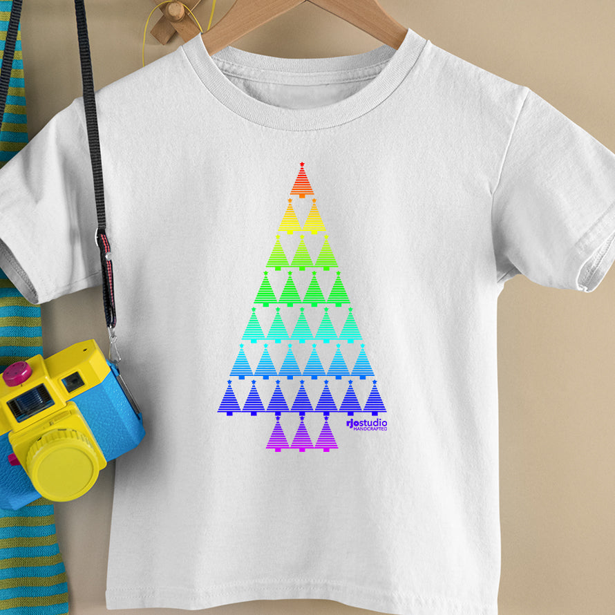 Christmas Tree Rainbow: Toddler T-Shirt