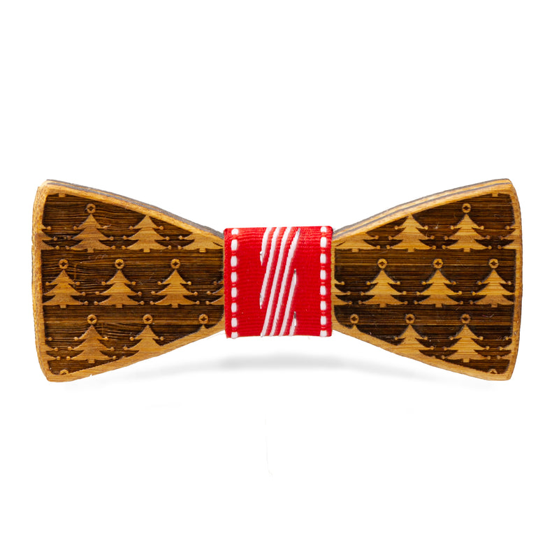 Christmas Trees Galore: Bamboo Bow Tie